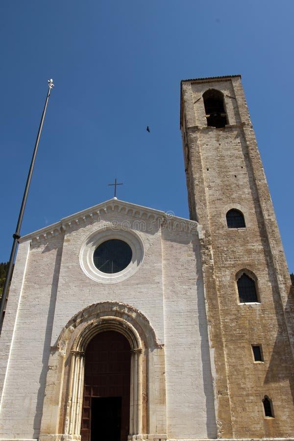 Kerk in het historische centrum van Gubbio royalty-vrije stock foto's