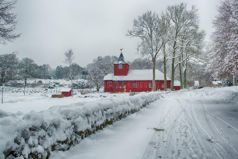 Kerk in het Landschap van de Winter royalty-vrije stock fotografie