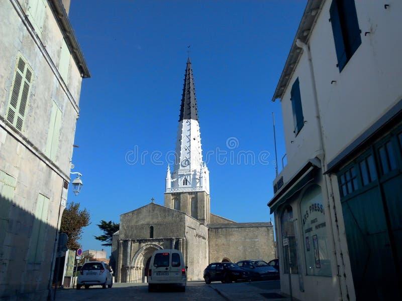 Kerk in het noorden van Frankrijk royalty-vrije stock afbeelding