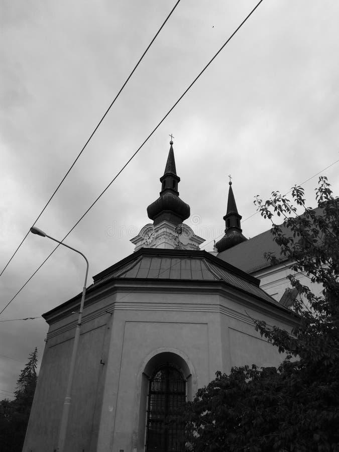 Kerk in het ziekenhuis stock foto