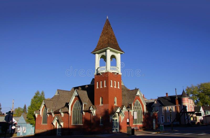 Kerk in Historische Leadville Colorado royalty-vrije stock foto