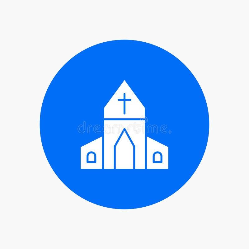 Kerk, Huis, Pasen, Kruis royalty-vrije illustratie
