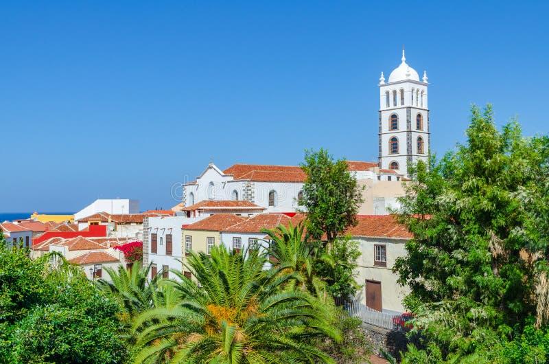 Kerk Iglesia DE Santa Ana in Garachico, Tenerife royalty-vrije stock foto