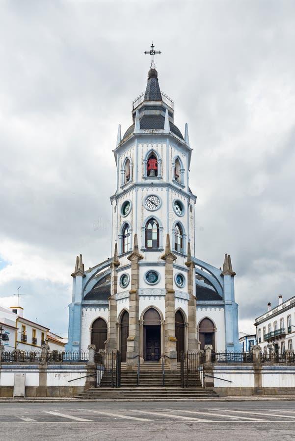 Kerk Igreja San Antonio in Reguengos DE Monsaraz stock afbeeldingen