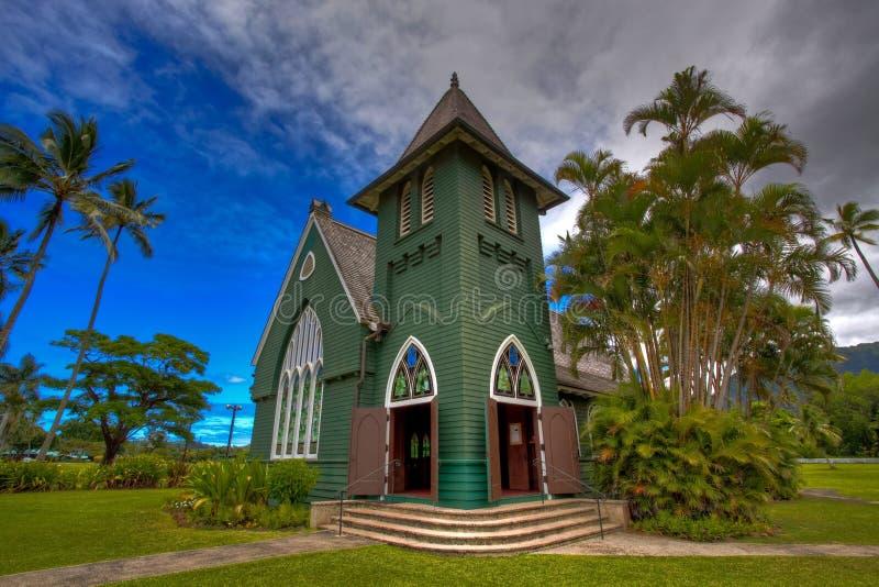 Kerk in Kauai, Hawaï stock fotografie