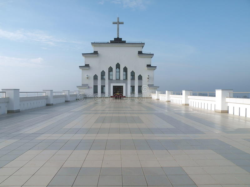 Kerk in Kaunas stock foto's