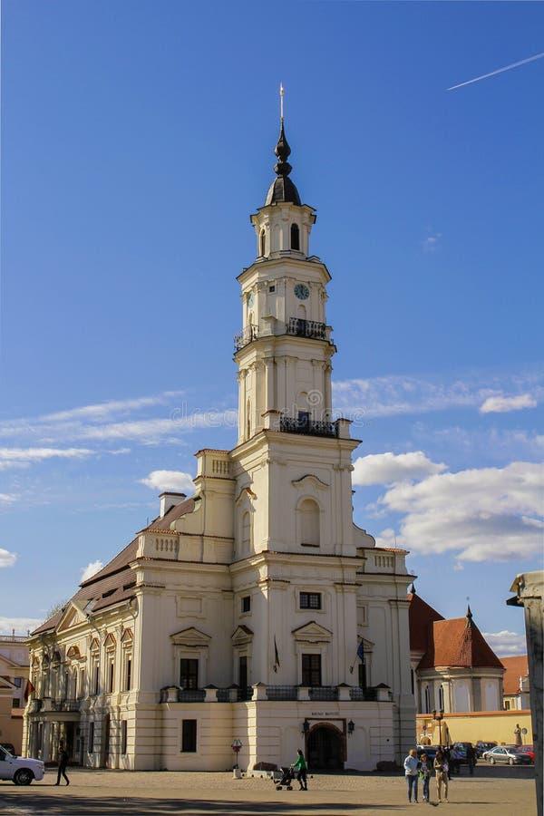 Kerk in Kaunas royalty-vrije stock afbeelding