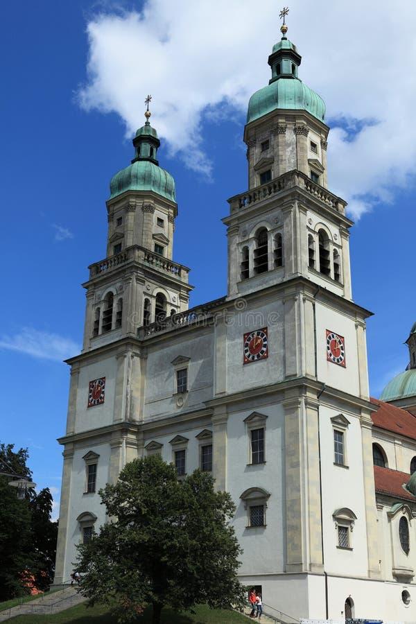 Kerk in Kempten Duitsland stock foto's