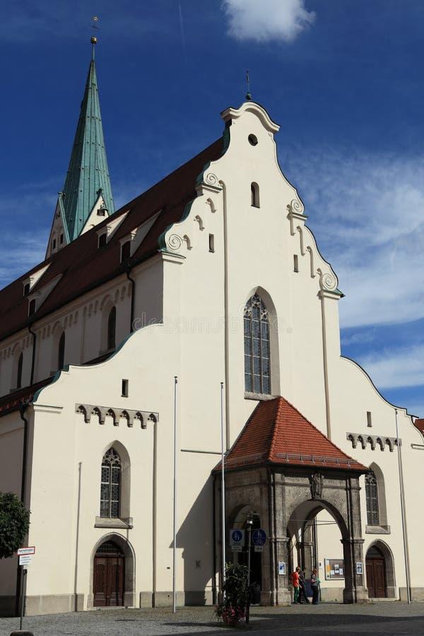 Kerk in Kempten Duitsland stock afbeelding