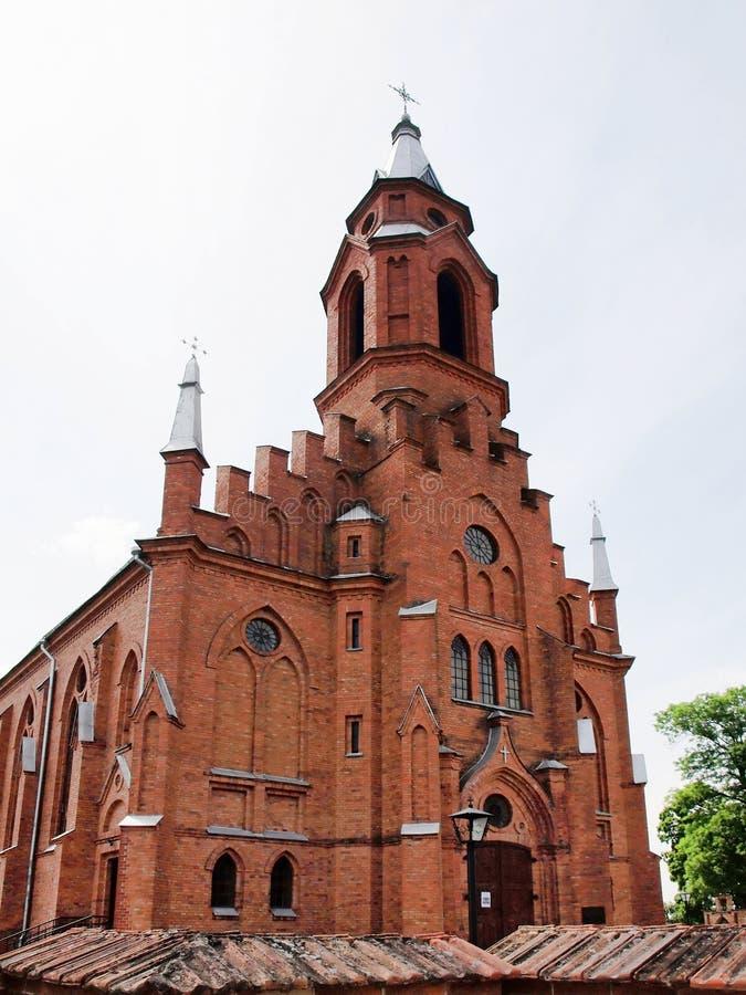 Kerk in Kernave. Litouwen royalty-vrije stock foto