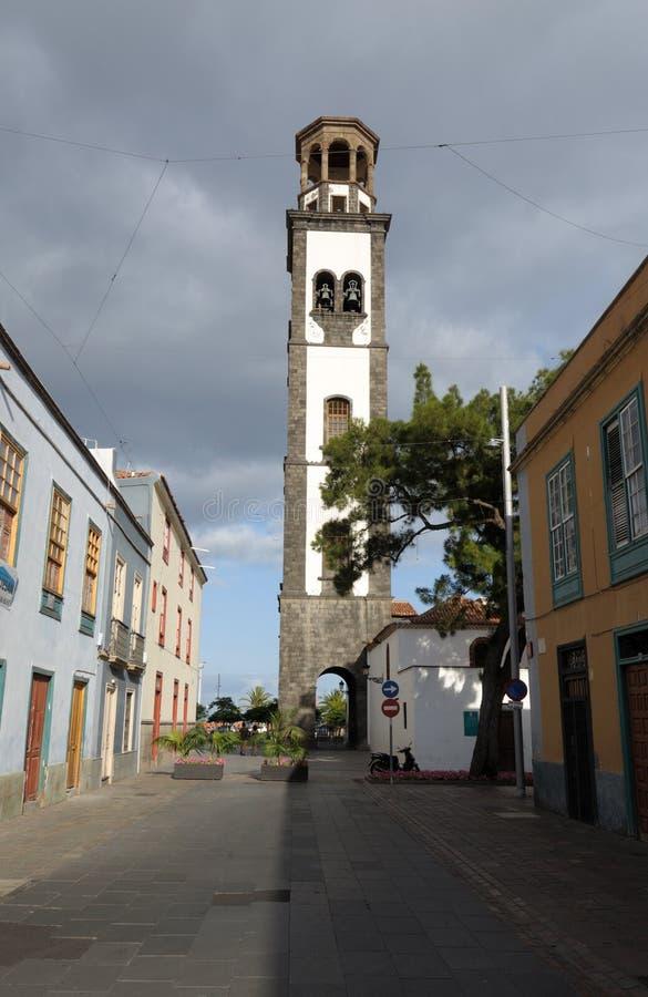 Kerk in Kerstman Cruz DE Tenerife stock foto's
