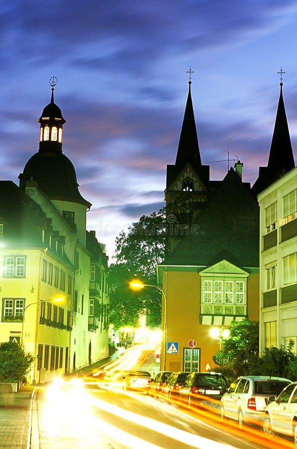 Kerk Koblenz, Duitsland. royalty-vrije stock afbeeldingen