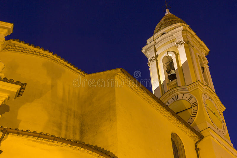 Kerk in La Turbie in Frankrijk royalty-vrije stock fotografie