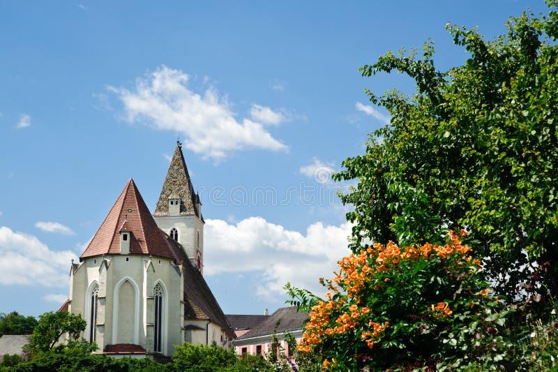Kerk in Lager Oostenrijk stock foto's