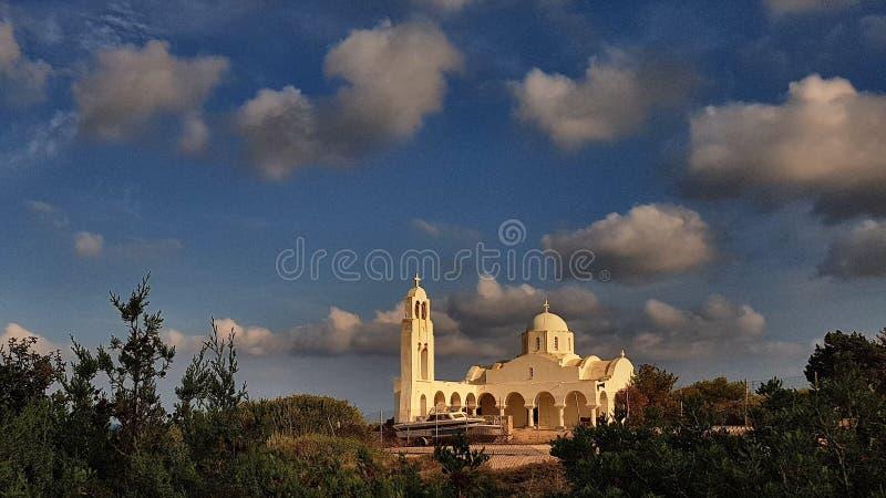 Kerk in Lavrio Griekenland stock afbeeldingen