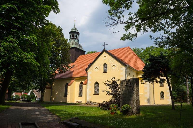 Kerk in Leba, Polen. royalty-vrije stock foto's