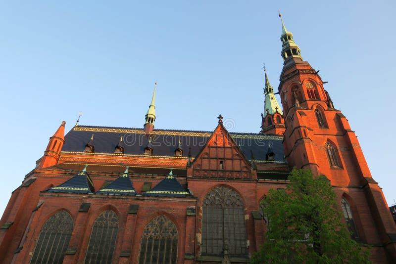 Kerk in Legnica stock fotografie