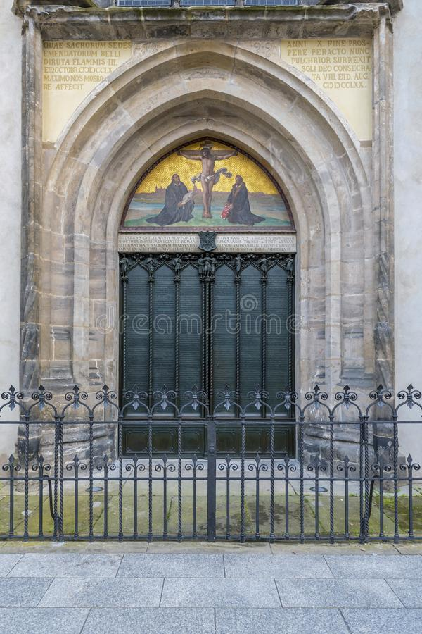 Kerk in Luther-stad Wittenberg royalty-vrije stock fotografie