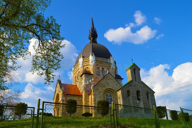 Kerk in Lviv stock foto's