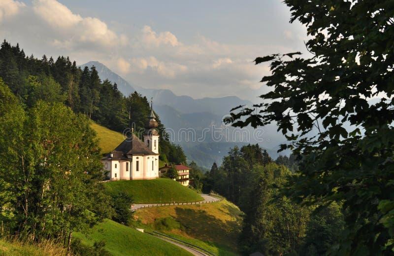 Kerk - Maria Gern stock foto