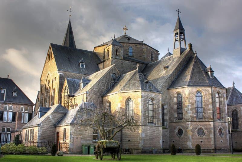 Kerk in mening in Denekamp - Overijssel, Nederland stock foto's