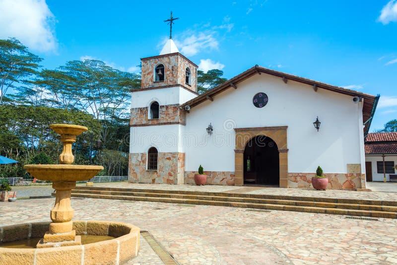 Kerk in Mesa DE los Santos stock afbeelding