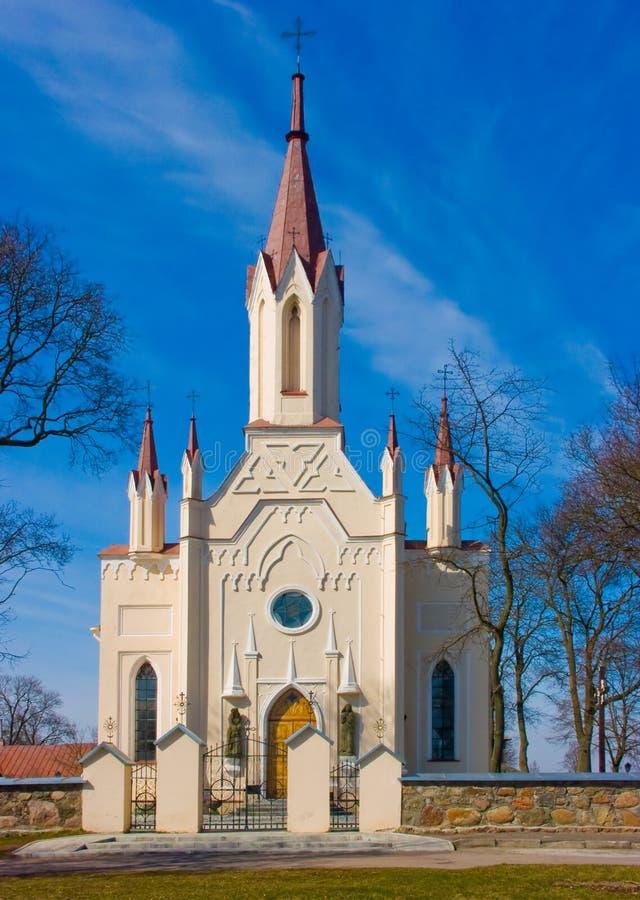 Kerk in Musninkai stock foto's