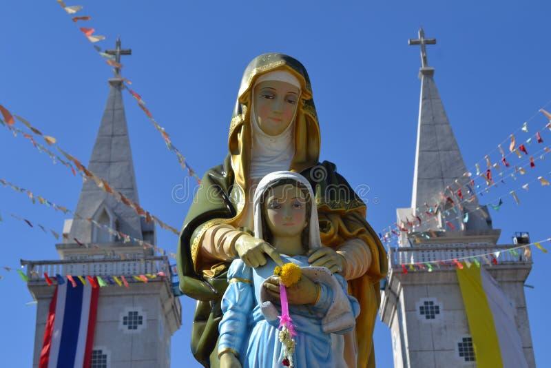 Kerk in Nakhon phanom, Thailand royalty-vrije stock afbeeldingen