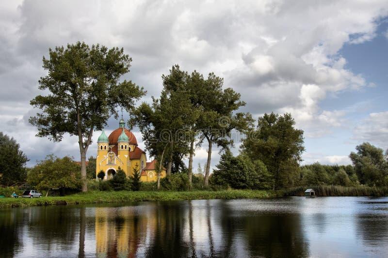 Kerk in Nekla royalty-vrije stock afbeelding