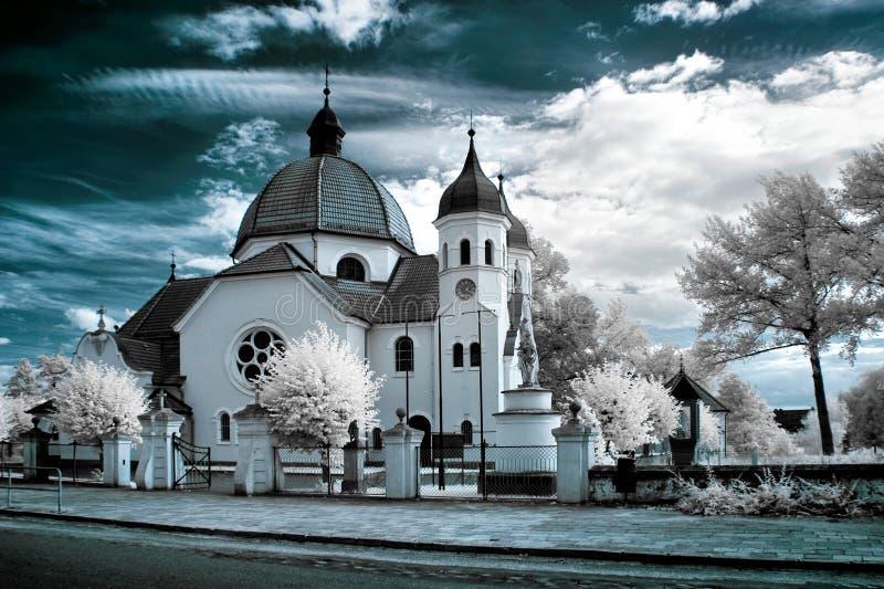Kerk in Nekla stock foto's