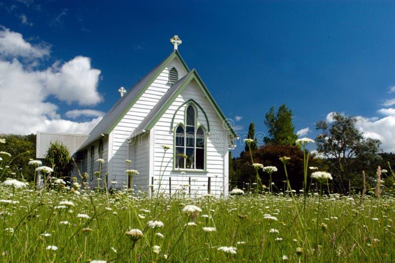Kerk in Nieuw Zeeland royalty-vrije stock foto's
