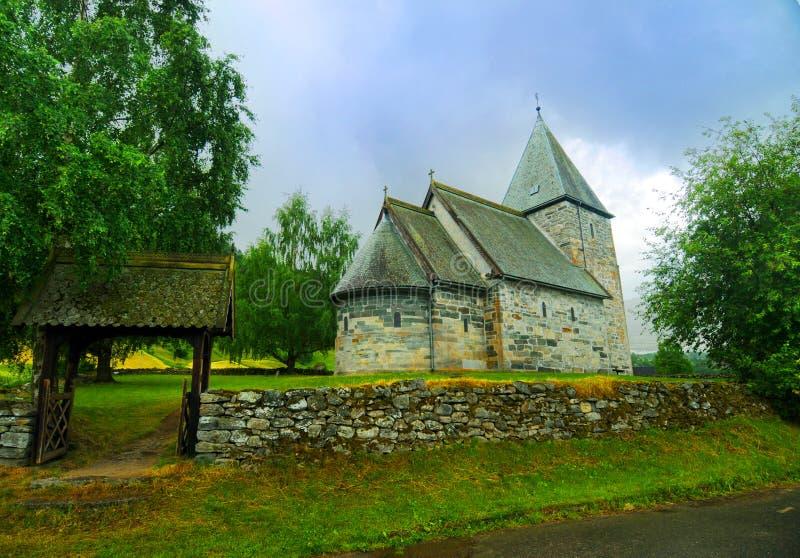 Kerk in Noorwegen royalty-vrije stock foto