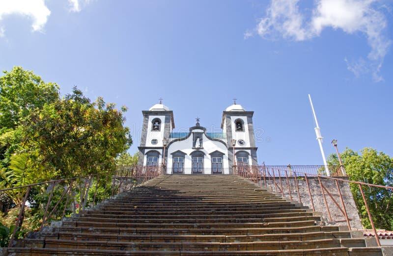 Kerk Nossa Senhora do Monte, Madera (Portugal) royalty-vrije stock foto's