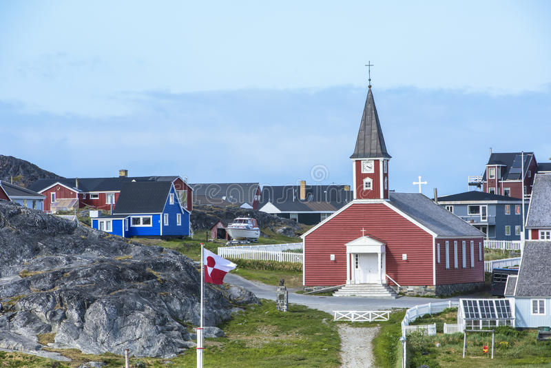 Kerk Nuuk, Groenland stock fotografie