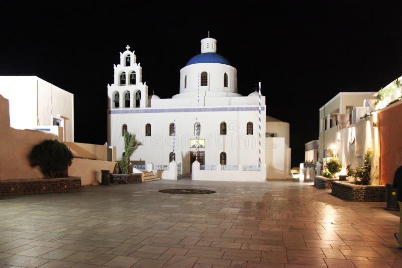 Kerk in Oia, Santorini royalty-vrije stock foto's
