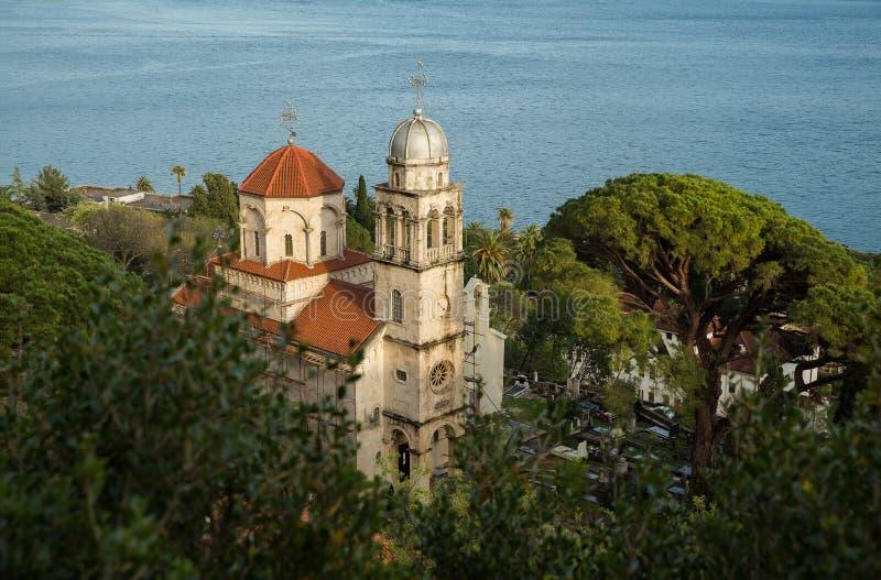 Kerk op de kust royalty-vrije stock foto