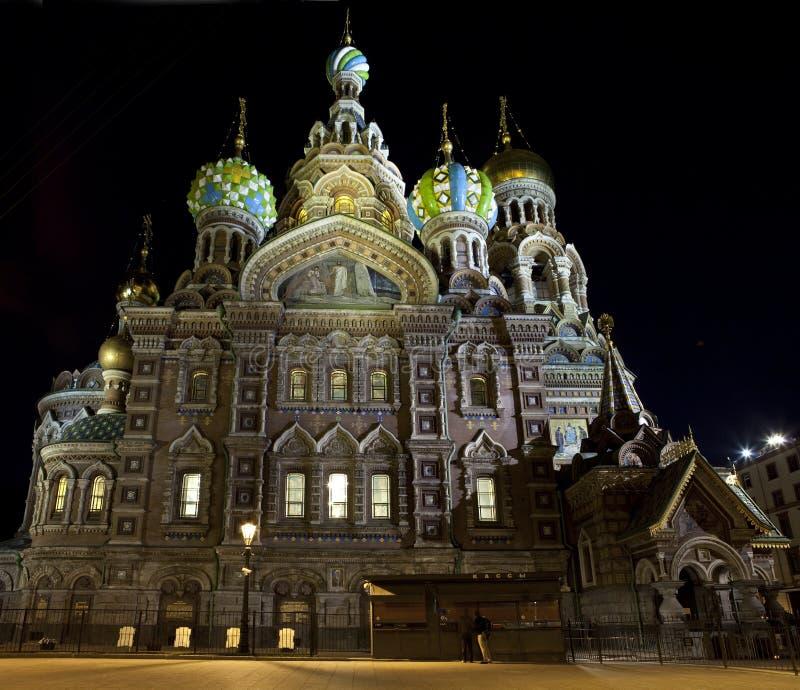 Kerk Op Het Gemorste Bloed In Heilige Petersburg Royalty-vrije Stock Afbeeldingen