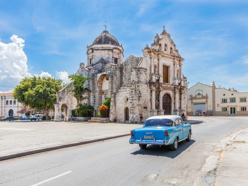 Kerk in oud Havana royalty-vrije stock afbeelding