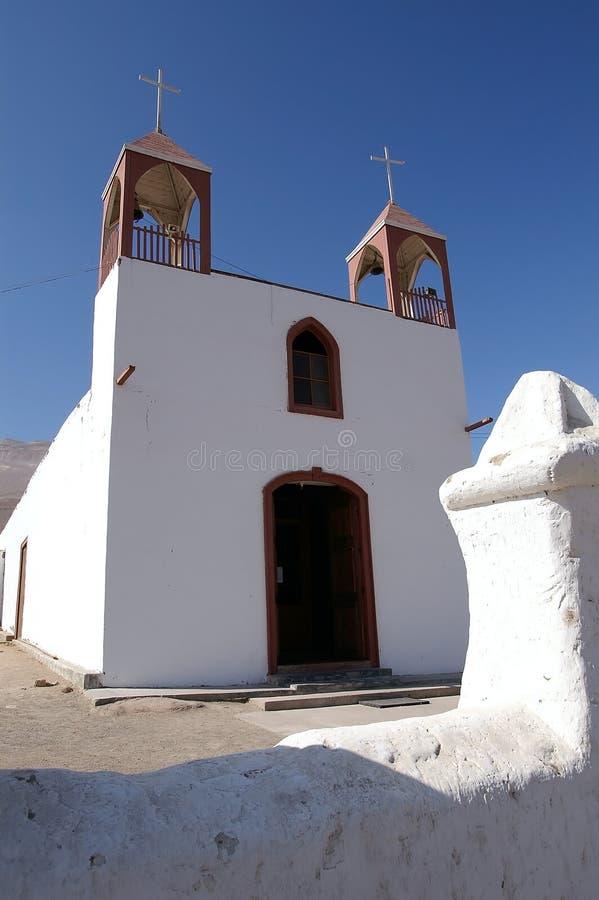 Kerk in Poconchile, Chili stock fotografie
