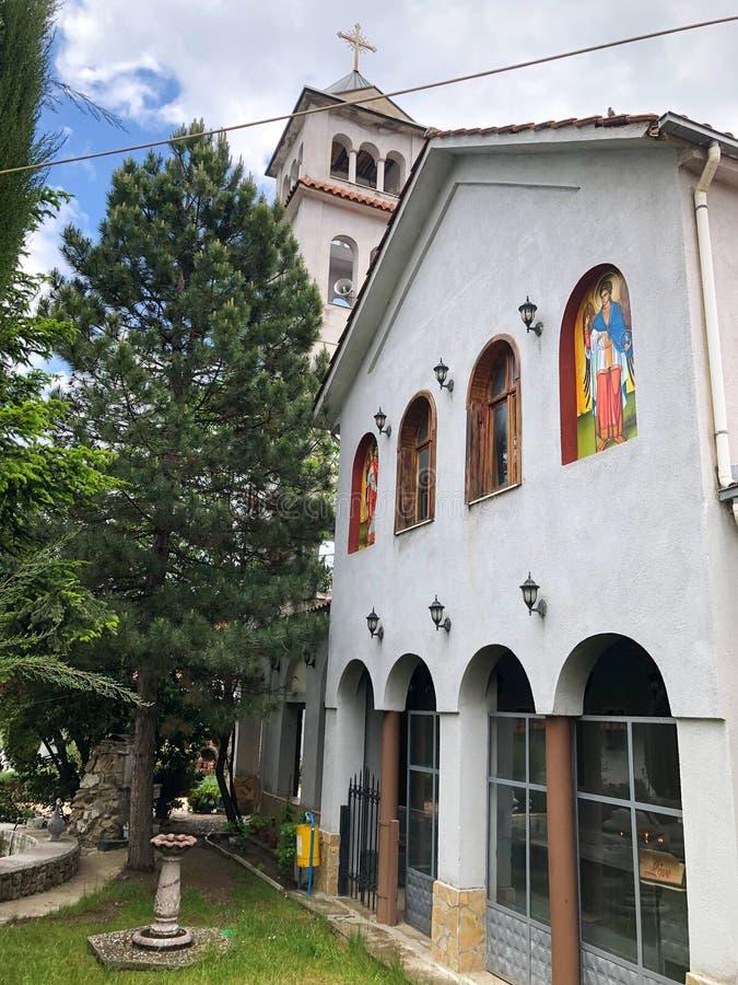 Kerk in Pogradec stock foto