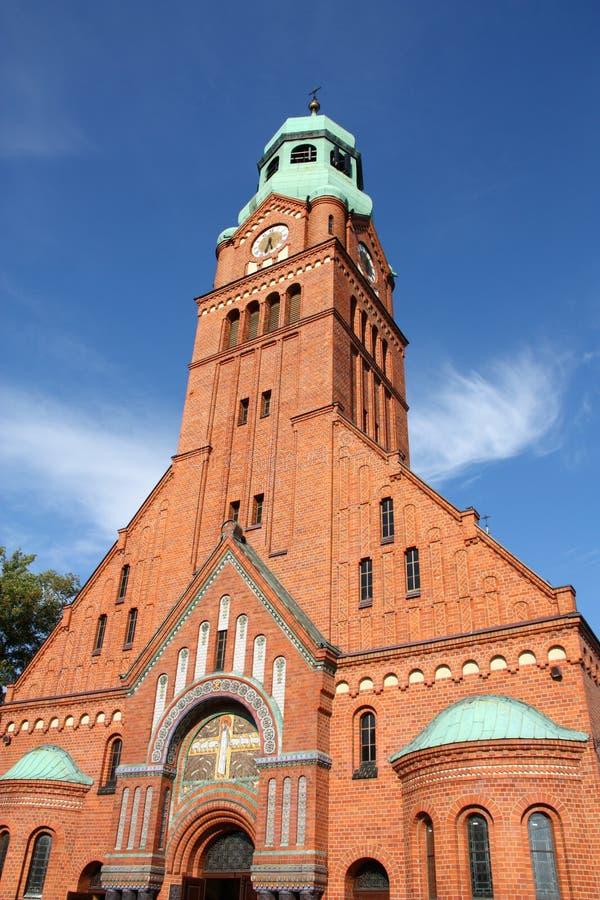 Kerk in Polen stock afbeeldingen