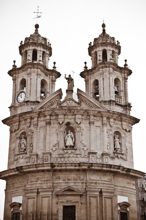 Kerk in Pontevedra stock foto's