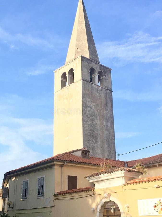 Kerk in Porec, Kroatië stock fotografie