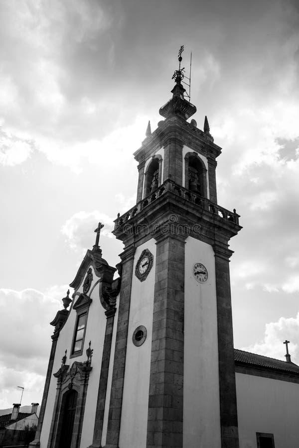 Kerk, Portugal, manier aan Santiago de Compostela royalty-vrije stock foto's