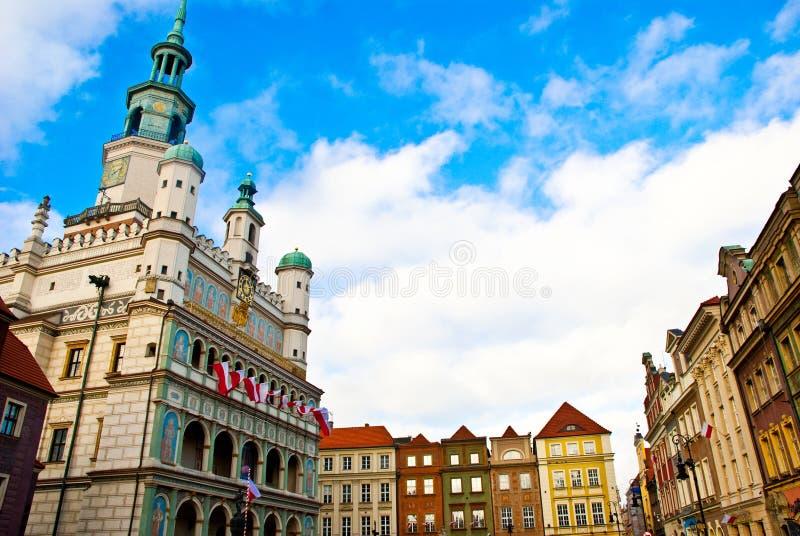 Kerk in Poznan stock afbeelding