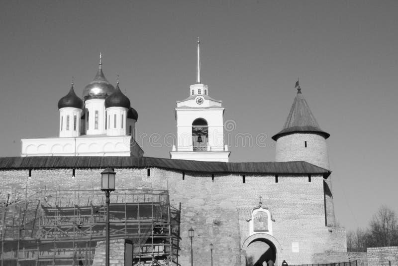 Kerk in Pskov stock fotografie