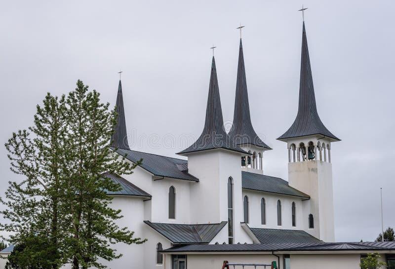 Kerk in reykjavik royalty-vrije stock fotografie
