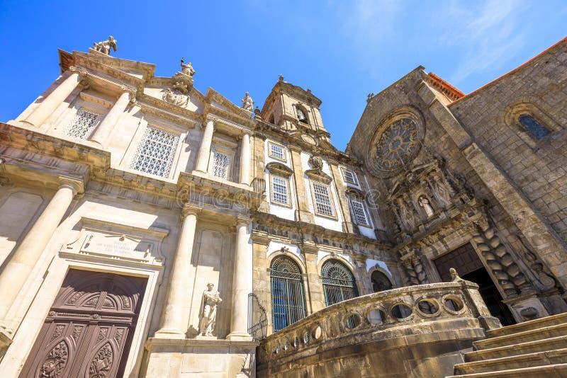 Kerk in Riberira Porto stock afbeelding
