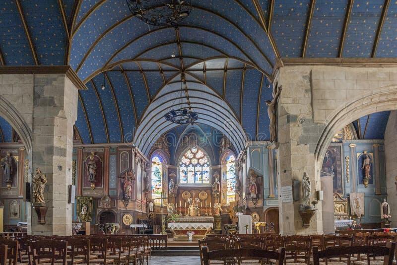 Kerk in Rumengol royalty-vrije stock foto