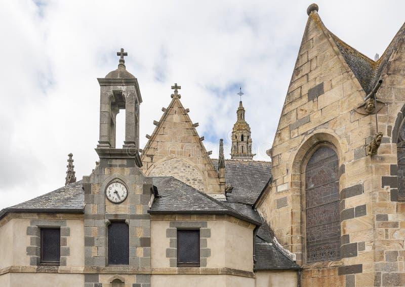 Kerk in Rumengol stock afbeeldingen